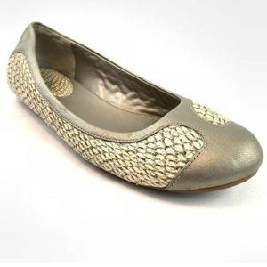 Cole Haan Nike Air Snake Print Leather Flats 7.5